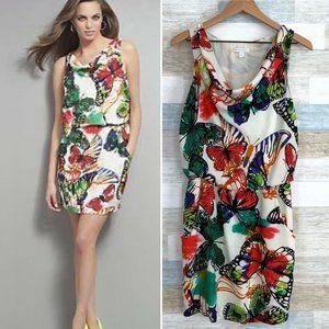 New York & Company Butterfly Blouson Dress